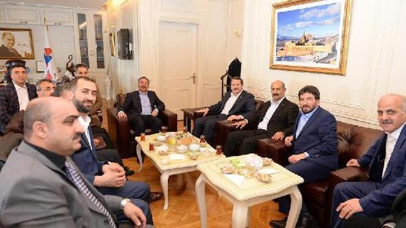 Sendika Başkanlarından Rektör Karabulut'a ziyaret