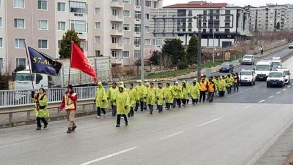 Tekirdağdan 57nci Alayı temsil eden 57 gönüllü, Çanakkaye uğurlandı