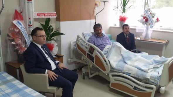 Kaymakam Zederoğlu'ndan hastalara ziyaret