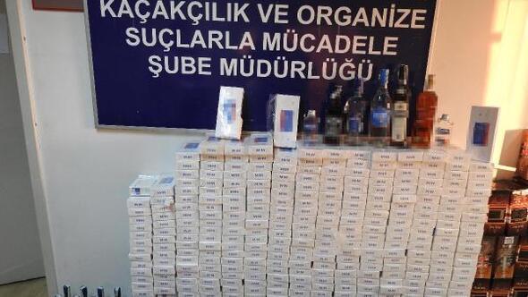 Edirne'de kaçak içki ve sigara operasyonu