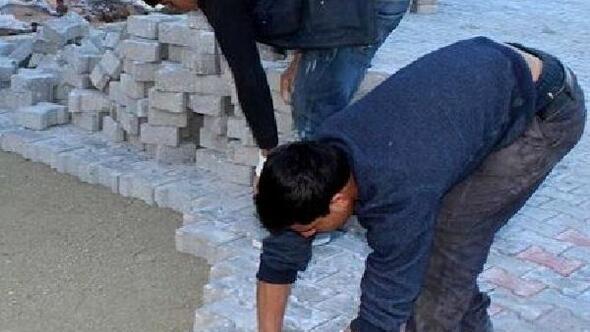 Yol çalışmasında kullanılacak taşlar çalındı