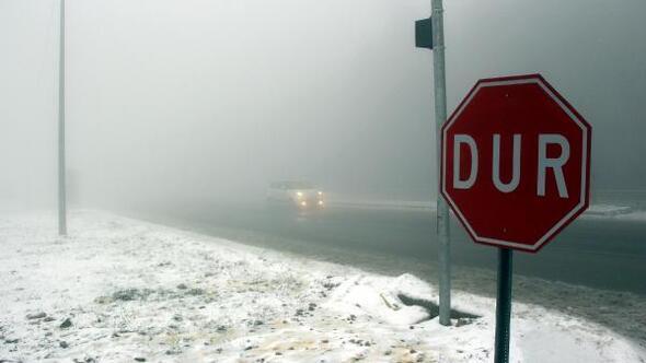 Kar ve sis Bolu Dağında ulaşımı yavaşlattı