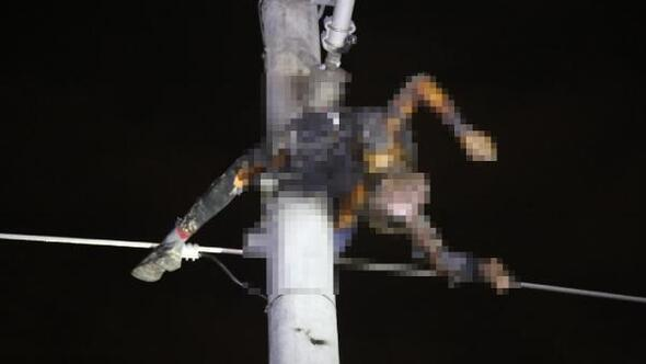 5 metrelik kabloyu çalarken akıma kapılıp öldü