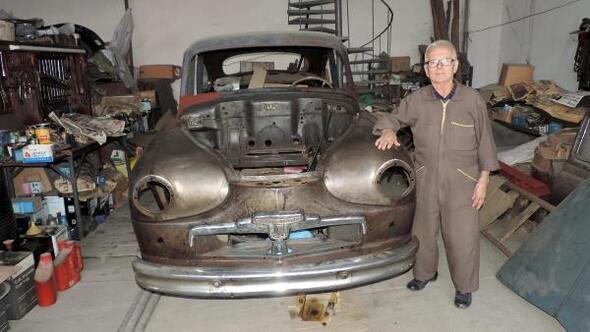70 yıllık usta, o otomobili tamir edemeden öldü
