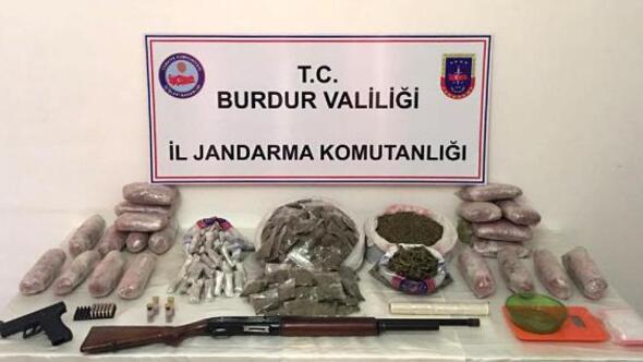 Burdurda uyuşturucu operasyonu