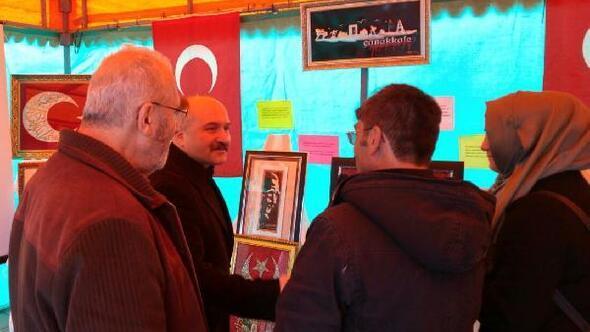 MHP Grup Başkanvekili Usta, Çanakkale sergisini gezdi