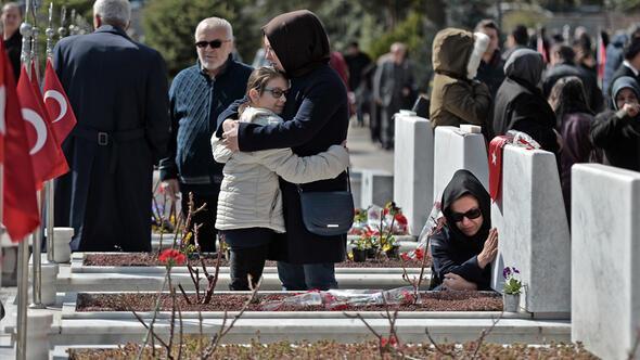 Şehitler Cebeci'de gözyaşlarıyla anıldı