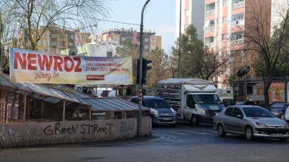 Diyarbakırda nevruz pankart ve afişlerine DTK ayarı