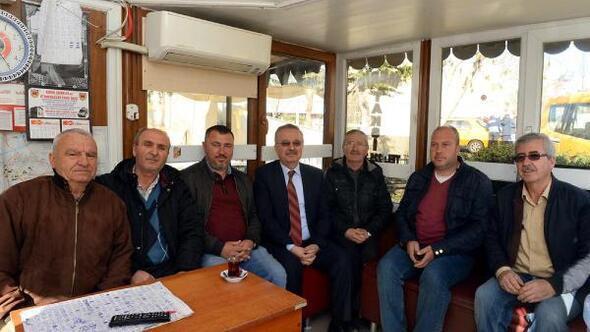 Vali Özdemir, taksicileri ziyaret etti