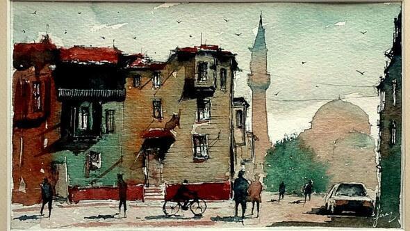 İstanbulun suluboya hali