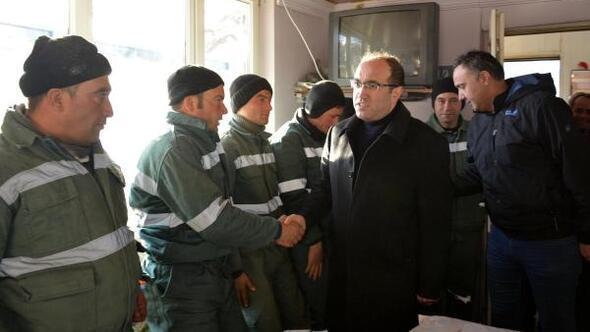 Başkan Çöl işçilerle buluştu