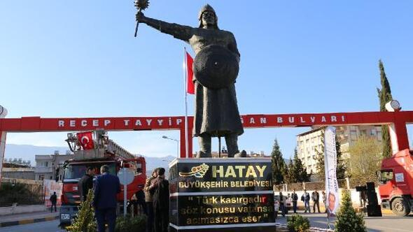Kırıkhana Süleyman Şah heykeli