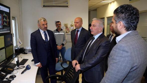 Vali Kamçı, Kayserigaz'da incelemelerde bulundu