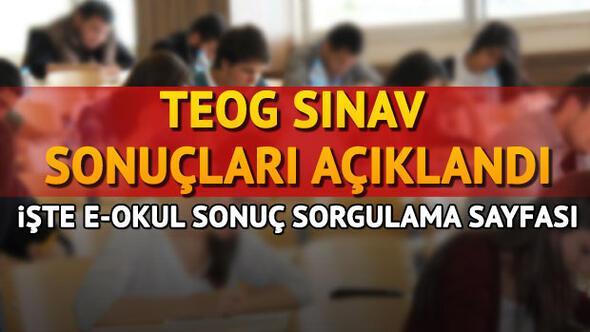 TEOG sonuçları E okul sisteminden açıklandı (eokul TEOG sonuç sorgulama)