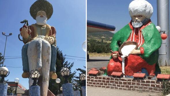 O heykeller belediye başkanını kızdırdı: Hocamızı küçültmeyelim