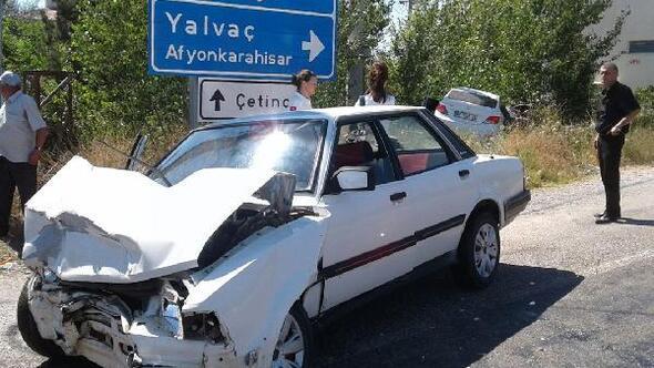 Yalvaçta kaza: 2 yaralı