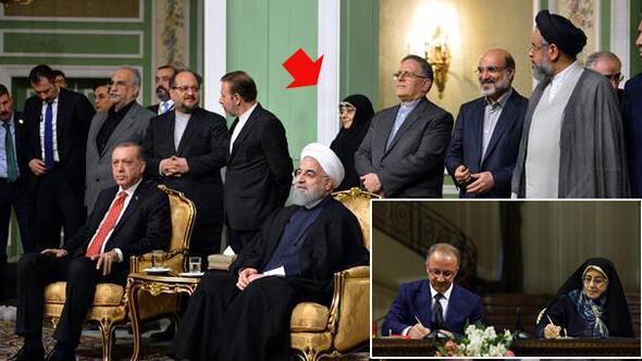 İran heyetinde dikkat çeken isim