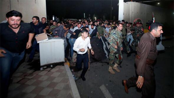 Kuzey Irakta tehlikeli gerginlik Parti binaları ateşe verildi
