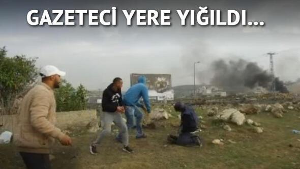 İsrail askerlerinin gazeteciye vurma anı böyle görüntülendi