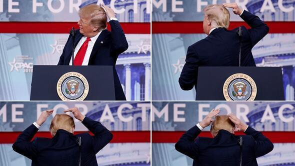 Trump keçəlliyi ilə şou göstərdi