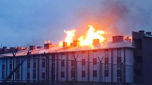 Doğubayazıttaki 1'inci Mekanize Tugay Komutanlığı'nda yangın