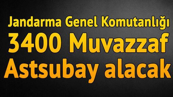 Jandarma Genel Komutanlığı 3400 muvazzaf-sözleşmeli astsubay alacak.. İşte başvuru şartları