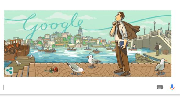 Orhan Velinin 104. yaş günü Googleda bu tema ile kutlandı