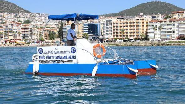 Deniz temizleme aracını belediye kendisi üretti