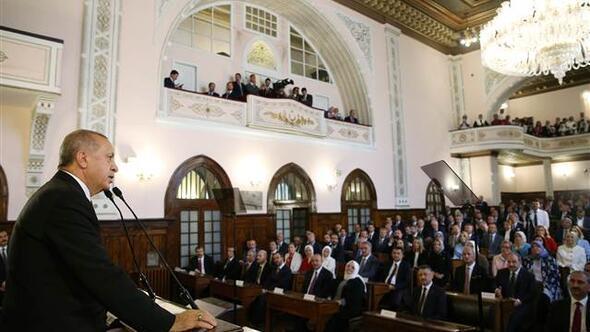 Ankarada tarihi gün... Erdoğan Birinci Mecliste konuşuyor