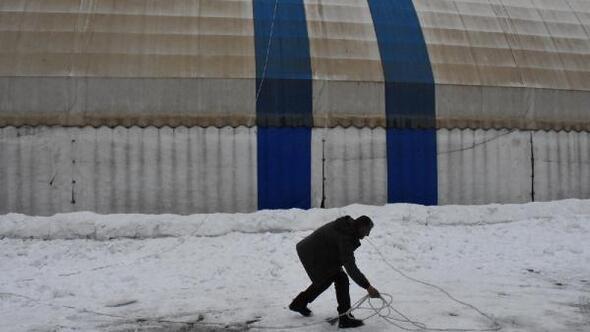 Beytüşşebapta ilginç kar temizliği