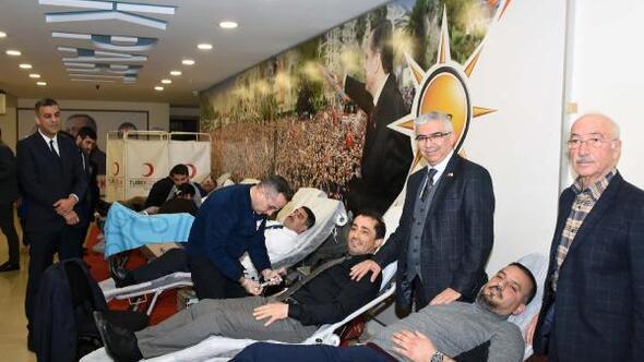 AK Parti teşkilatından kan bağışı kampanyası
