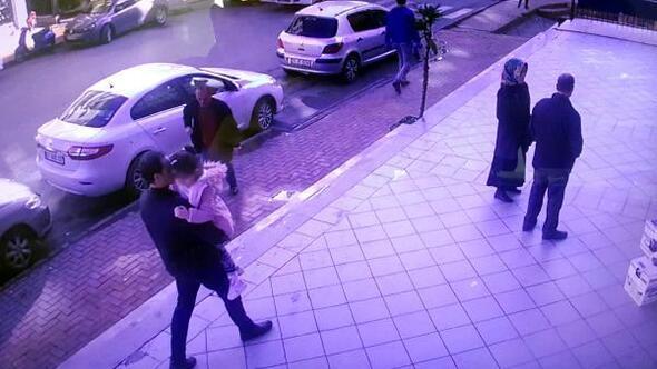 Eski eşindeki kızını kaçırdı, engel olmak isteyen güvenlikçiyi araçla sürükledi