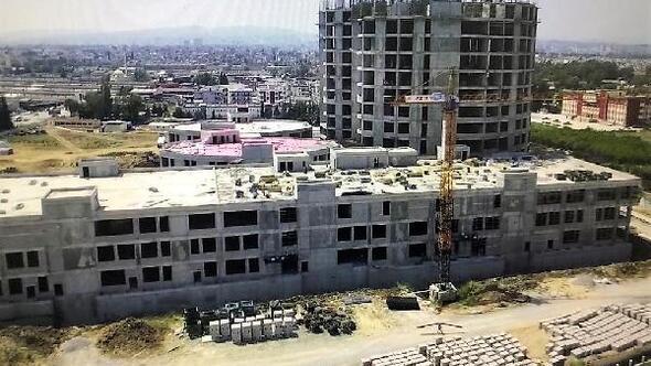 600 yataklı Tarsus Devlet Hastanesi inşaatı sürüyor