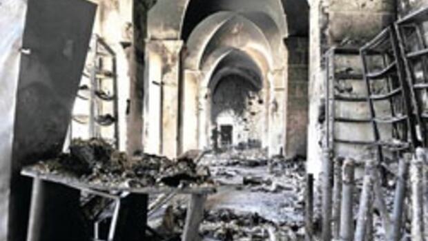 Halep'in yanan Emevi Camii Selçuklu-Memlük şaheseri