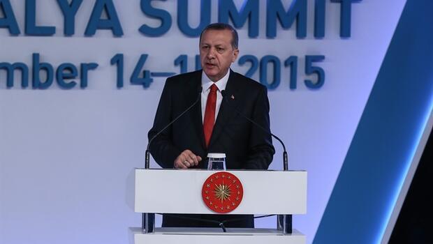 Cumhurbaşkanı Erdoğan G-20 zirvesinde konuştu