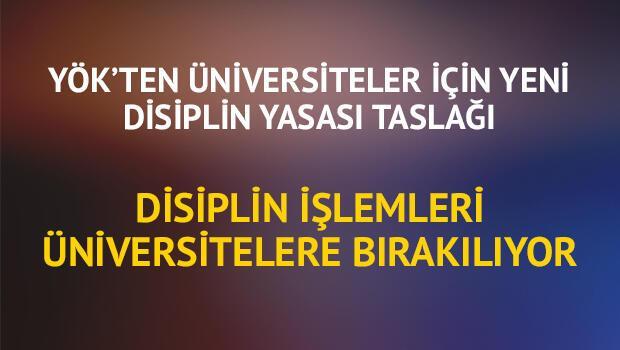 YÖK'ten üniversiteler için yeni disiplin yasası taslağı Disiplin işlemleri üniversitelere bırakılıyor