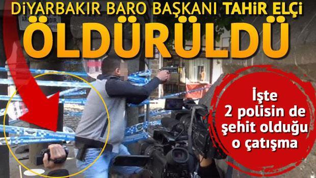 Diyarbakır'da çatışma: Tahir Elçi hayatını kaybetti, 1 polis şehit