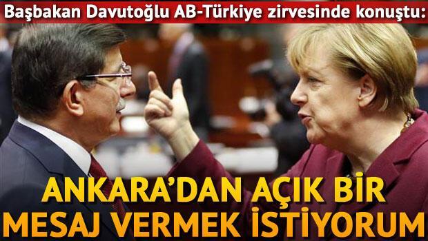 Başbakan Davutoğlu Brüksel'de konuştu: Tarihi bir gün