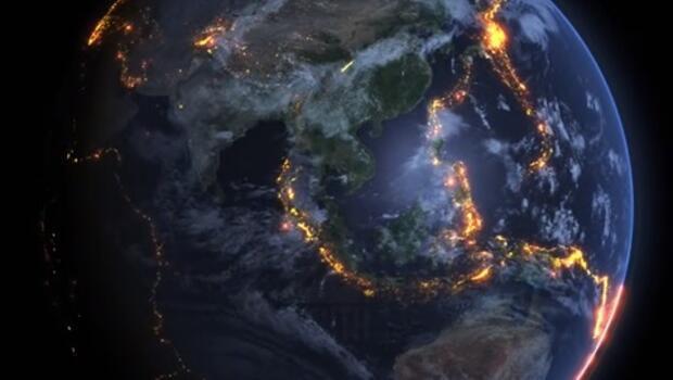 Dünya'daki tüm depremleri aynı haritada topladılar
