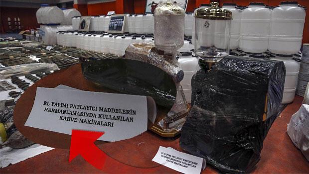 PKK'nın cephaneliğinden kahve makinesi çıktı