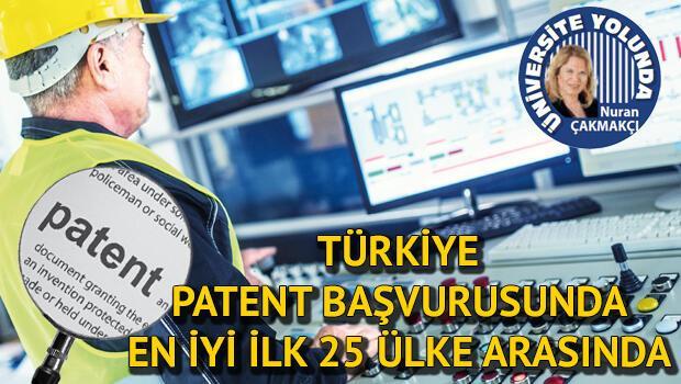 Türkiye patent başvurusunda en iyi ilk 25 ülke arasında