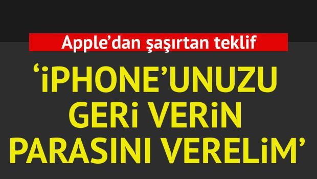 Apple bozuk iPhone'ları parasıyla geri alıyor