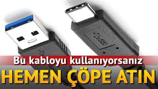 Çakma USB-C kablosu 1000 dolarlık bilgisayarı bozdu