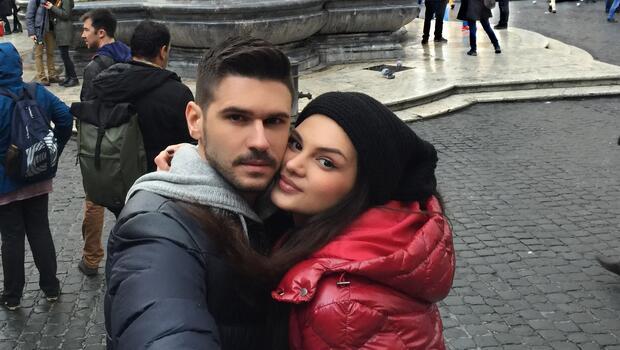 Tolgahan Sayışman sevgilisi Almeda Abazi'yi Romaya götürdü