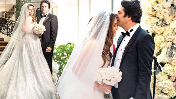 Mahsun Kırmızıgül nikah sonrası gelini alnından öptü