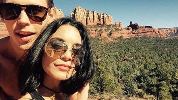 Vanessa Hudgens ve sevgilisi aşklarını taşa kazıdı haklarında soruşturma açıldı