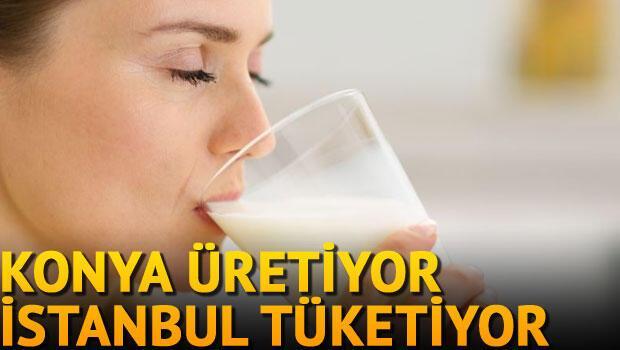 Konya üretiyor İstanbul içiyor