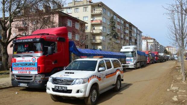 Kırşehir'den Halep'e 9 TIR yardım daha