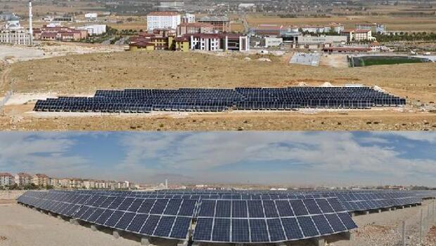 Karamanoğlu Mehmetbey Üniversitesinin Güneş Enerji Santrali projesi tamamlandı