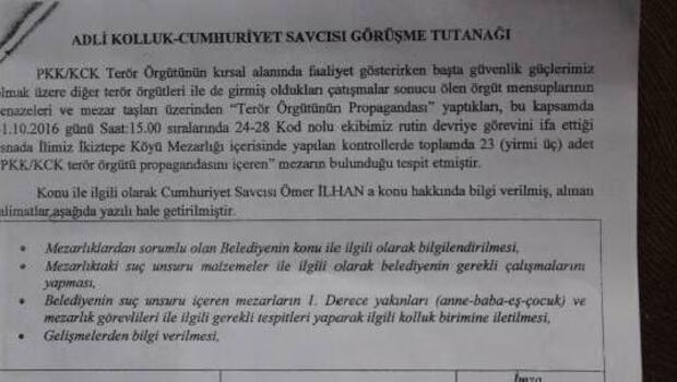 Batmanda PKK ve YPGlilere ait 23 mezar taşı için yıkım kararı